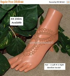 Barefoot Sandals: https://www.etsy.com/shop/gilmoreproducts33  Crochet Barefoot Sandals  - You will receive 2 pieces (1 Left and 1 Right) Barefoot Sandal  - Shoe Size:  Cus... #crochet #acessories #gilmoreproducts33