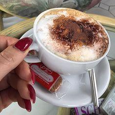 Marlenes choice today... :-) #marlenebitzer #cappuccino #Padgram