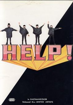 "The Beatles Help! movie poster....How many ""times"" did you watch it ? Too many to count!!!"
