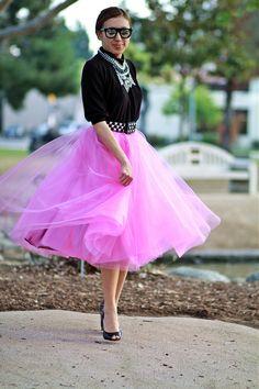 Modest Pink Skirt