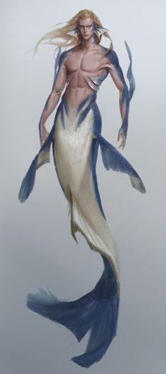 Male Mermaid, Mermaid Man, Mermaid Artwork, Mermaid Drawings, Fantasy Mermaids, Mermaids And Mermen, Fantasy Creatures, Mythical Creatures, Cosplay Steampunk