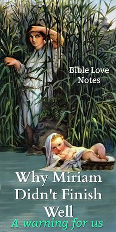Miriam's life offers a valuable lesson for all of us. This 1-minute devotion explains. #bibleLoveNotes #Bible Women Of Faith, Faith In God, Wisdom Bible, Christ In Me, Bible Love, Bible Study Tools, Bible Knowledge, Christian Resources, Bible Scriptures