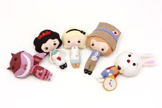 Alice in Wonderland Plush Felt Doll by TwoElephantsShop on Etsy