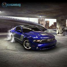 Gentil Gambar Dp Mobil Roush Mustang Warna Biru Mewah