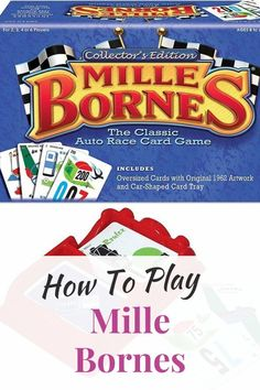Mille Bornes is a vintage racing card game that is a lot of fun to play individually or as teams of 2. It is of French origin with the pronunciation meel-born and the translation meaning 1000 milestones. Family Board Games, Board Games For Kids, Classic Card Games, Game Sales, Family Game Night, Online Deals, Tabletop Games, Vintage Racing, Fun Things