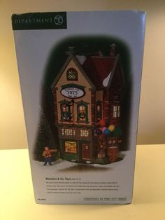 Dept 56 Christmas In The City Nicholas & Co. Christmas In The City, Department 56, Toys, Gifts, Ebay, Design, Activity Toys, Presents, Clearance Toys