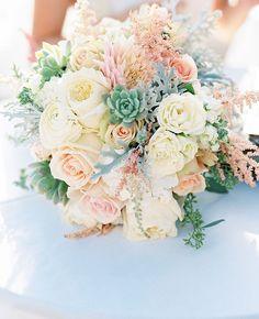 Dusty Miller Bridal Bouquet Inspiration | blog.theknot.com