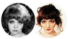 Hair & makeup of girl on the right (not Clara Bow).