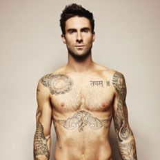 Adam Levine from Maroon 5 (the rest of the pic is beyond pg 13)  :D