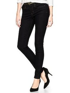 1969 legging jeans | Gap-black up to size 20; great silhouette, great washable material, great lengths because comes in petite. Price a little high at $70, but stretchy material helps mediate that...think what it will do for showing off legs without having to wear a dress!