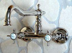 Nostalgie Unterputz Waschtischarmatur, EDWARDIAN, Silber-nickel ...