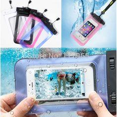100%ปิดผนึกพีวีซีถุงกันน้ำที่ทนทานกรณีโทรศัพท์กระเป๋าสำหรับiphone 6 plus/6/5 s/4วินาทีสำหรับsamsung s2/s3/s4/s5/s6/s7 ec138/ec723