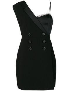Three Floor Silencio satin trim dress - Black Source by mhuayz dress black Prom Dress Shopping, Online Dress Shopping, Stage Outfits, Mode Outfits, Looks Party, Blazer Fashion, Mode Style, Ladies Dress Design, Korean Fashion