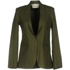 ..,merci Blazer (14.255 RUB) ❤ liked on Polyvore featuring outerwear, jackets, blazers, military green, army green jacket, olive green jackets, green camo jacket, multi pocket jacket and olive green blazer