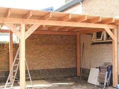 Afbeeldingsresultaat voor houten overkapping maken Back Patio, Patio Roof, Backyard Patio, Pergola, Gazebo, Outdoor Rooms, Outdoor Living, Carport Sheds, Patio Canopy