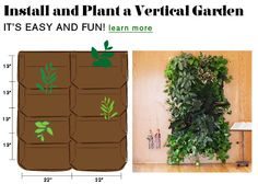 Vertical Gardens | Woolly Pocket   I can't wait to do this!