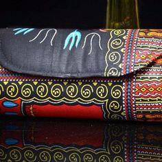 Vibrant African Ankara Print Clutch , Unique Vibrant Colours!