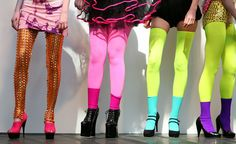 Credit: Brian O'Sullivan/EMPICS Entertainment Day one at Alternative fashion week: Cassie Kogler's highlighter-bright tights are anything bu...