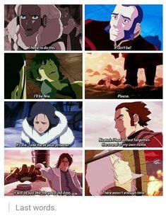 Last words. Avatar and Korra Korra Avatar, Team Avatar, Got Anime, Anime Manga, Avatar World, Avatar The Last Airbender Art, Avatar Series, Iroh, Moment Of Silence