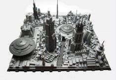 Star Wars - micro-scale Coruscant : a LEGO® creation by KW Vauban : MOCpages.com