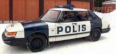 Saab 900 Police car Finland