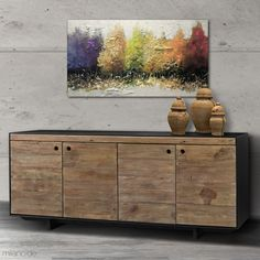 Somewhere between the industrial and the boho style, the Todo sideboard will offer you all the storage you need.