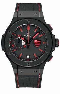 Hublot Flamengo Bang Black Rubber Gummy Alligator Mens Watch 318.CI.1123.GR.FLM11