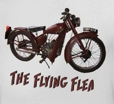 """In WWII Royal Enfield was known for its """"Flying Fleas"""" which were parachuted out of planes for use by British forces. It's raining motorcycles!"""