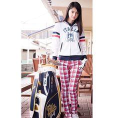 FILA Golf wear coordinate #FILA #filajapan #filagolf #golf #golfwear #coordinate #fashion #ladies #woman #collection #style #stylish #parka #pants #caddiebag #cute #life #like #佐々木希 #着用 #モデル #コーデ #ファッション #ゴルフ #ウェア #ラウンド #コース #かわいい #キャディバッグ #セット