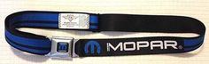 Buckle Down Licensed Mopar Logo Seatbelt Buckle Belt #BuckleDown