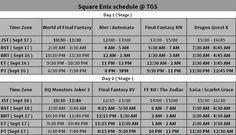 Square Enix TGS schedule & livestream  Sept 16 : http://y2u.be/g4-1suWHOPM Sept 17 : http://y2u.be/HpY4tPUCvYk