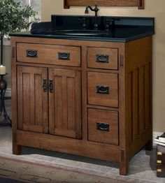 The New American Craftsman Vanity Collection from Sagehill Designs.  Find out more at www.sagehilldesigns.com American Craftsman, Pinterest Board, Kitchen And Bath, Vanity, Collection, Design, Home Decor, Dressing Tables, Powder Room