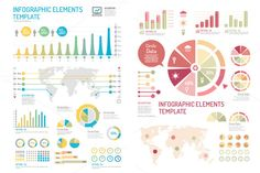 infographics set and Information by Pongsuwan on Creative Market