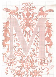ru / Фото - ALFABETO - samlimeq h monogram cross stitch Monogram Cross Stitch, Just Cross Stitch, Cross Stitch Alphabet, Cross Stitch Charts, Cross Stitch Designs, Embroidery Alphabet, Embroidery Patterns, Stitch Patterns, Cross Stitching