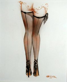 pin up rear end - cute pinup by Olivia de Berardinis