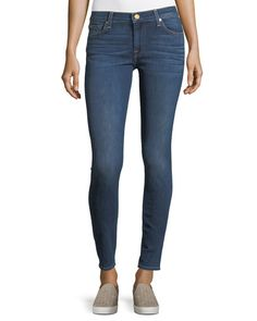 7 FOR ALL MANKIND GWENEVERE MEDIUM-WASH ANKLE JEANS, BLUE. #7forallmankind #cloth #