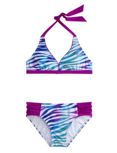 Dye Effect Zebra Bikini Swimsuot | Bikinis | Swimsuits | Shop Justice