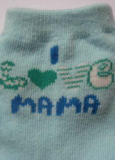 """Wunderschöne Baby-Söckchen türkis Gr 92-98 """" I love Mama"""" Apollo 3"""