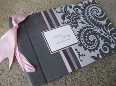 Pretty fabric guest book