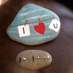 from my mama. ♡ rock art painted rocks, rock a Pebble Painting, Pebble Art, Stone Painting, Diy Painting, Stone Crafts, Rock Crafts, Arts And Crafts, Rock Painting Ideas Easy, Rock Painting Designs