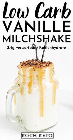 Low Carb Dessert, Milkshake, Mason Jars, Vegan, Tableware, Desserts, Kakao, Smoothies, Healthy Milkshake