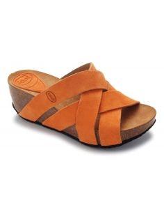 Scholl ERULA - oranžové módní sandály