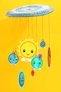 Our Solar System Bubble Guppies Solar System Craft - This project is a great way to teach your child about outer space. Simply print, cut, and hang these super spacey Bubble Guppies planet ornaments to create.