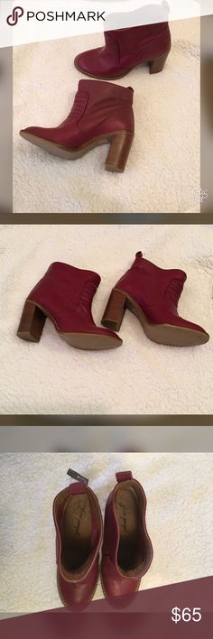 Red Free People boots Red Free People boots  Pre-owned, lots of life left in them! Free People Shoes Ankle Boots & Booties