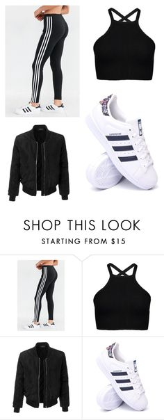 """""""Untitled #2"""" by saara-heikkila ❤ liked on Polyvore featuring adidas and LE3NO"""