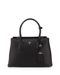 L0FAK Prada Saffiano Cuir Twin Bag, Black (Nero)
