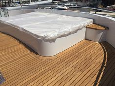 Bespoke solutions by our team of incredible fabricators for the 50m custom built Feadship, Motor #Yacht Herculina. Our team made these custom solutions for Herculina including a sun bed complete with hydraulic mechanism hatches and storage... Our team specialise in design and fabrication of high quality #marinecomponents and are experts in marine & aerospace materials such as Titanium,17-ph4, Nitronic 50, Duplex 2205 and hybrid plastics. We have expertise in all yachts from superyachts to…