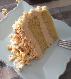Buttered Popcorn Cake with Salted Caramel Bourbon Buttercream