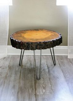 Tree Slice With Bark Coffee Table, or Side Table in Mid City, Los Angeles ~ Krrb Classifieds