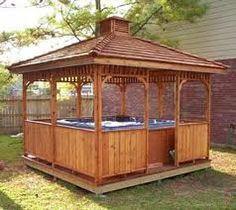 garden hot tub ideas - Google Search